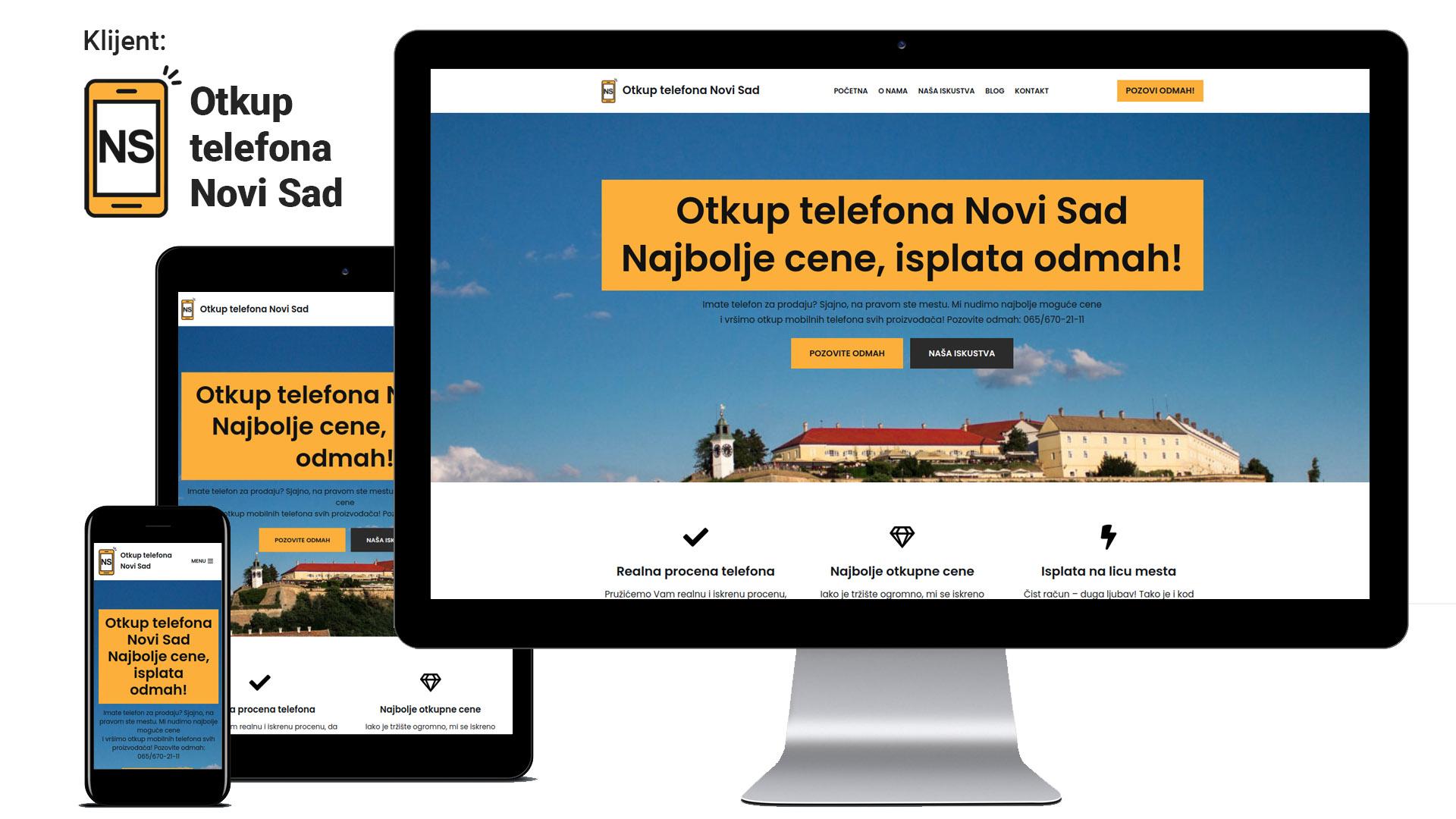 Otkup telefona Novi Sad - novi rezultat u Google pretrazi