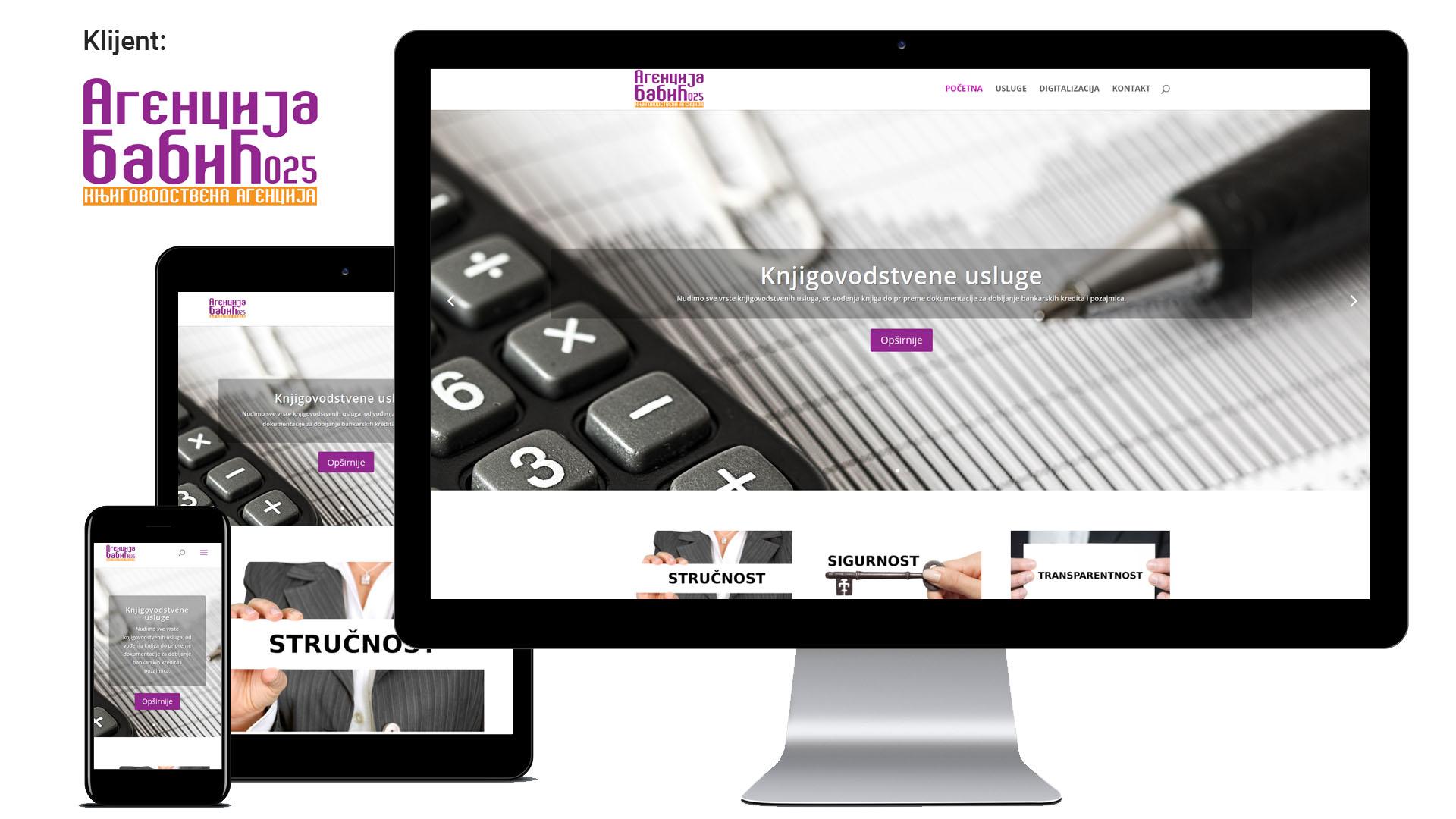 Agencija Babić 025 - moderan i jednostavan veb sajt