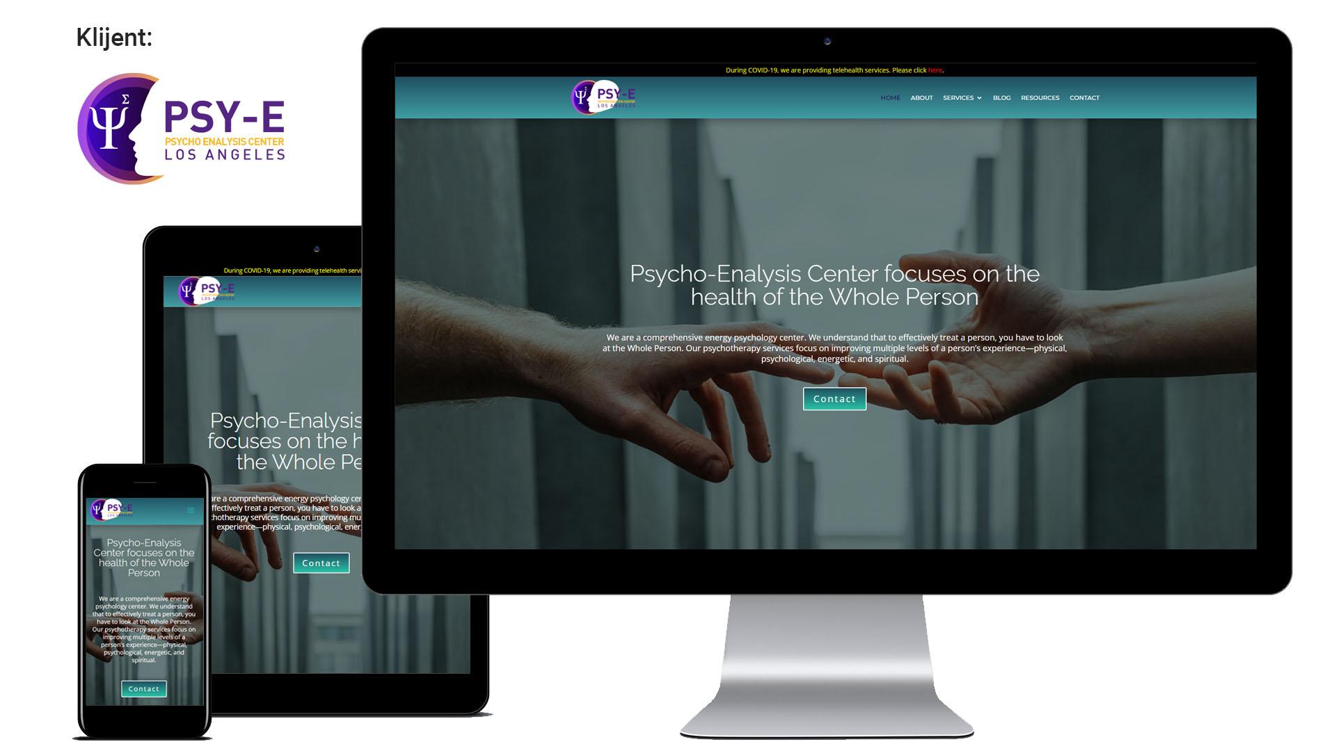 Psy-E – Izrada platforme za kontakt sa psihologom