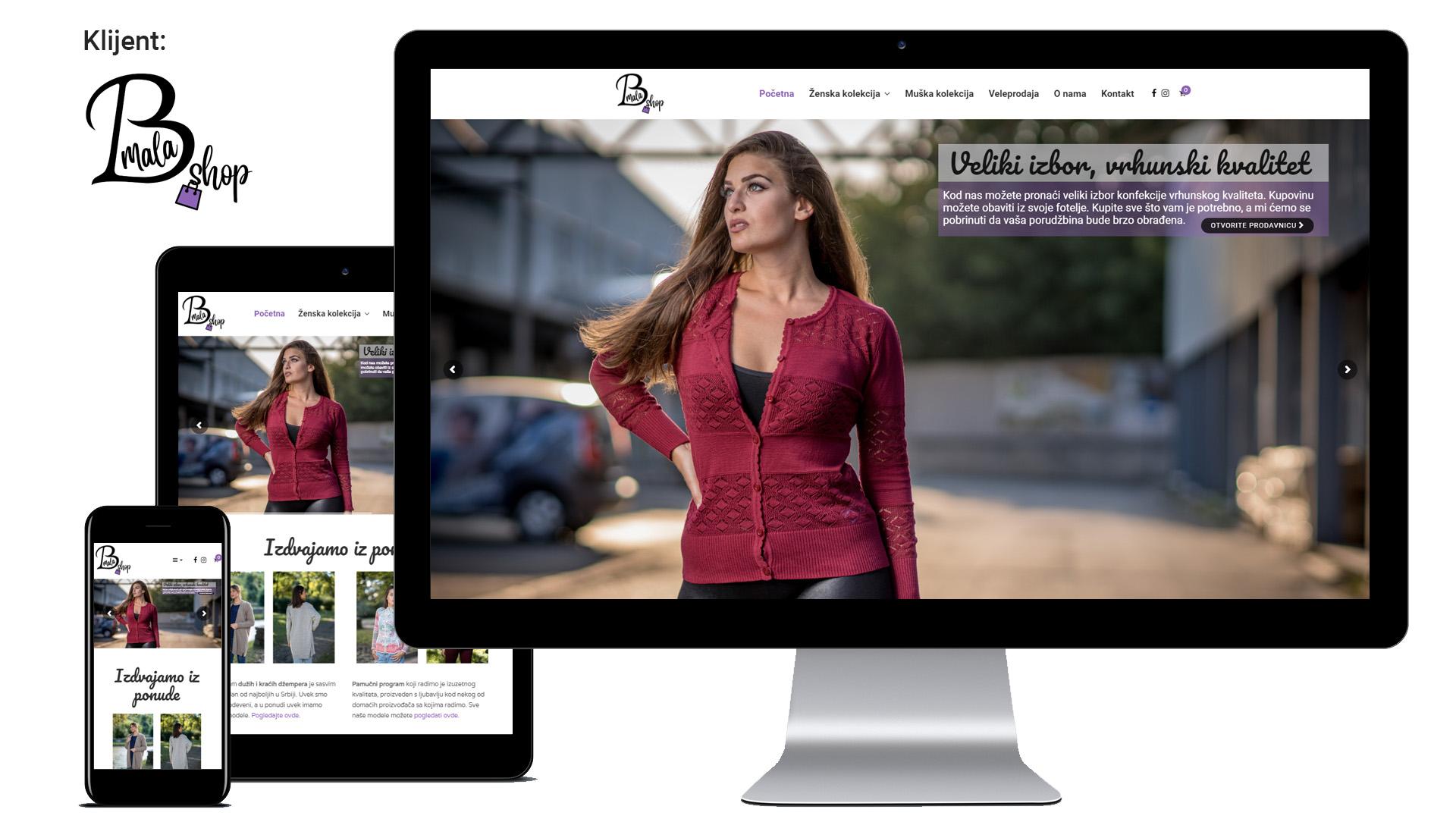 Bravo mala doo - Izrada internet prodavnice za prodaju odeće