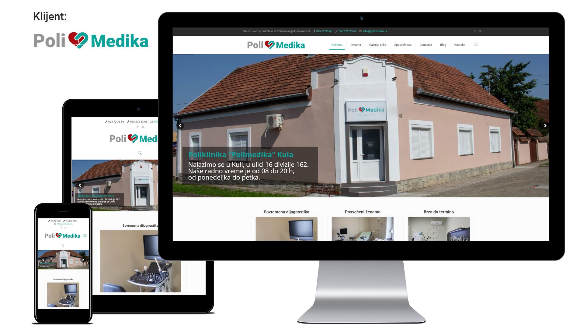 Polimedika - Izrada sajta za polikliniku