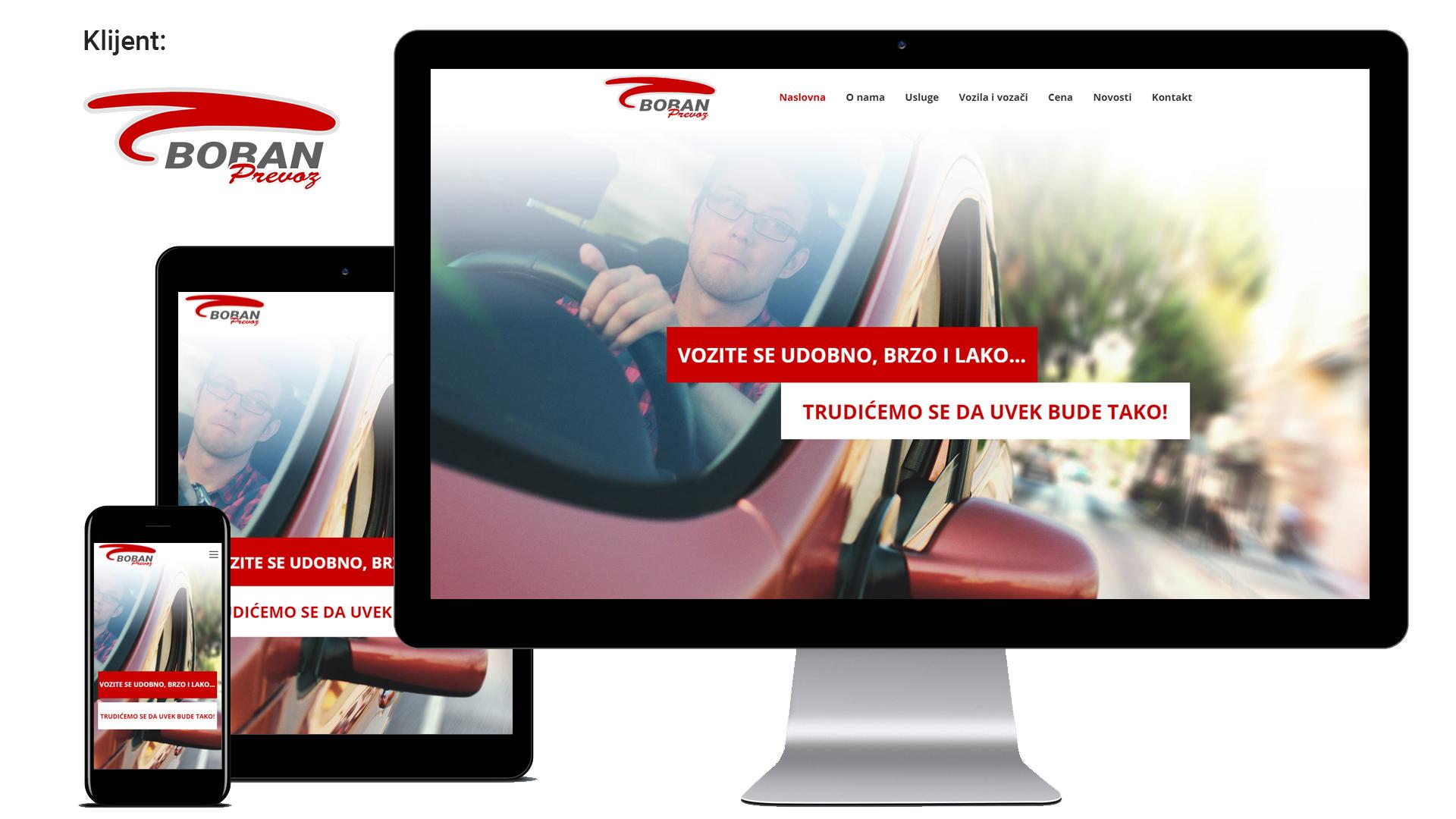 Boban prevoz - jednostavan i moderan sajt autoprevoznika